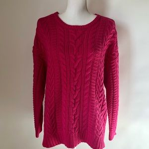 Lauren Ralph Lauren pink cable sweater womens 1X